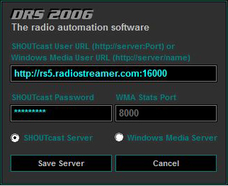 DRS 2006 Radio Manager Add New Server